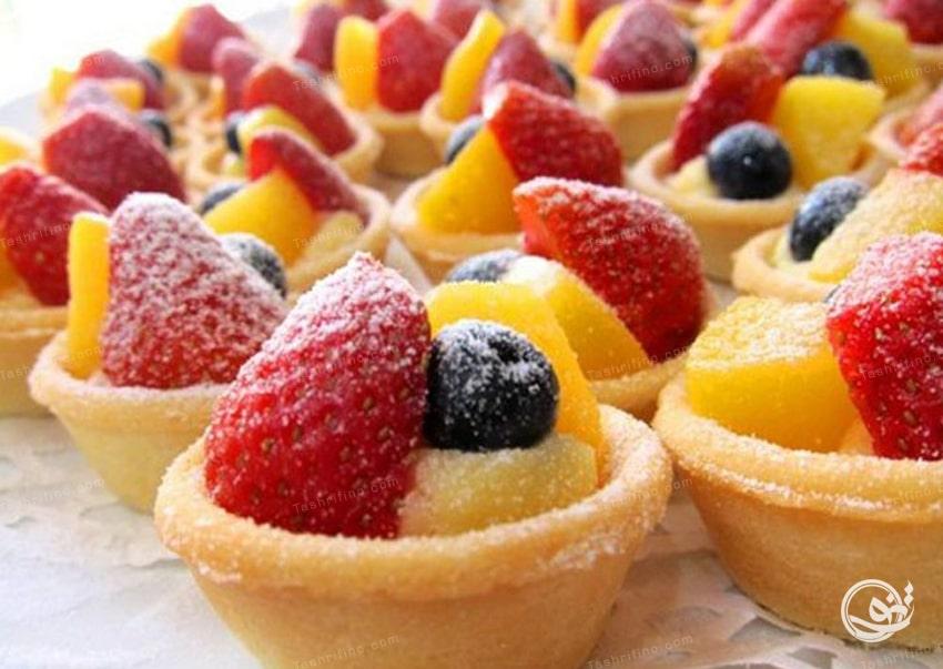 شیرینی تارت میوه ای - مدل شیرینی نوروز 99
