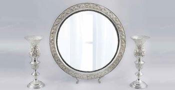 مدل انواع آینه شمعدان عروس جدید 2021 (شیک و لاکچری)