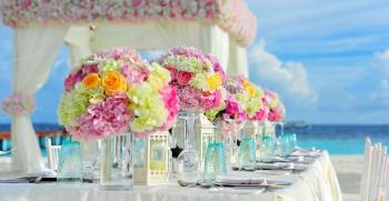 بهترین دیزاین برای تم عروسی ساحلی