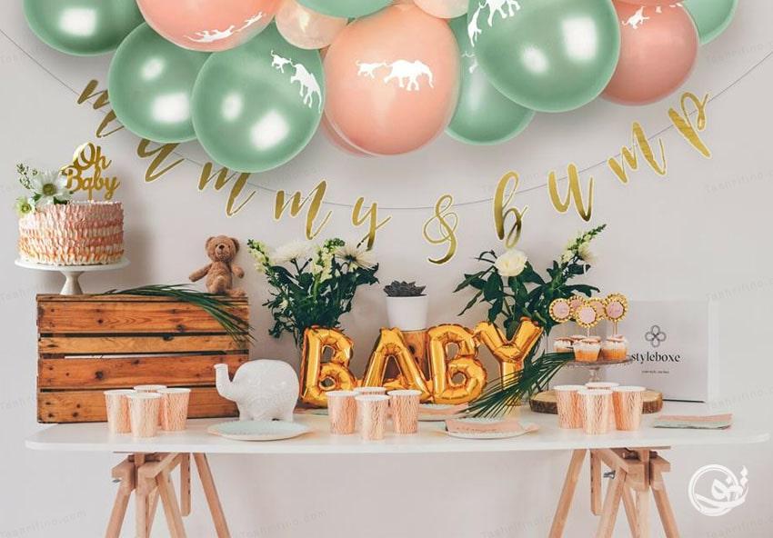 به دیزاین جشن اعلام بارداری اهمیت دهید