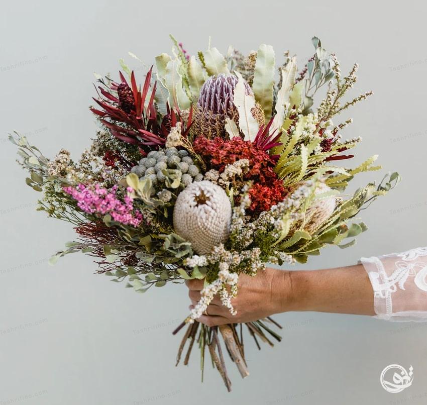 دسته گل روستیک جذابترین مدل دسته گل عروس