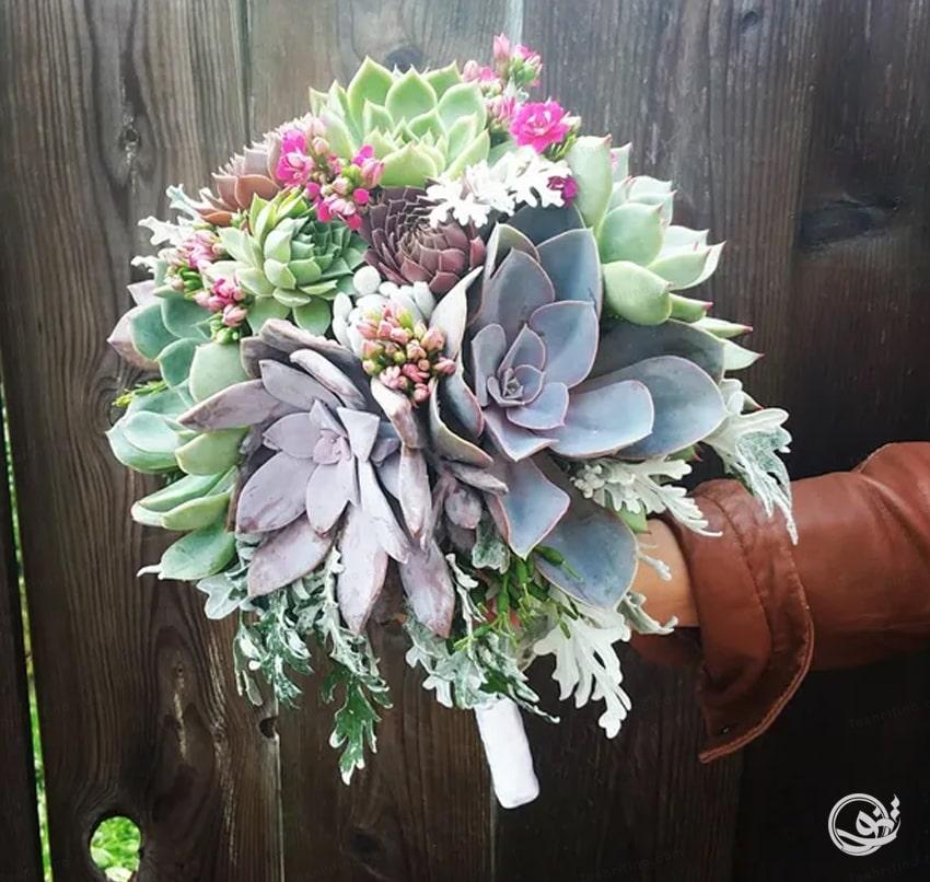 دسته گل روستیک زیباترین مدل دسته گل عروس
