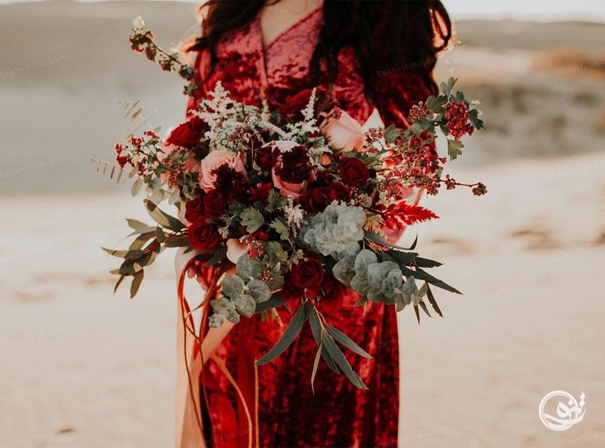 زیباترین مدل دسته گل عروس بوهو استایل