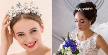 مدل موی عروس با تاج و تور- تاج ملکه ای (موی عروس مدل 2020 )