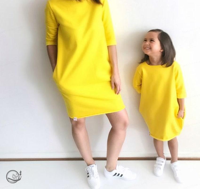 ساده ترین مدل ست مادر دختری مجلسی 2020