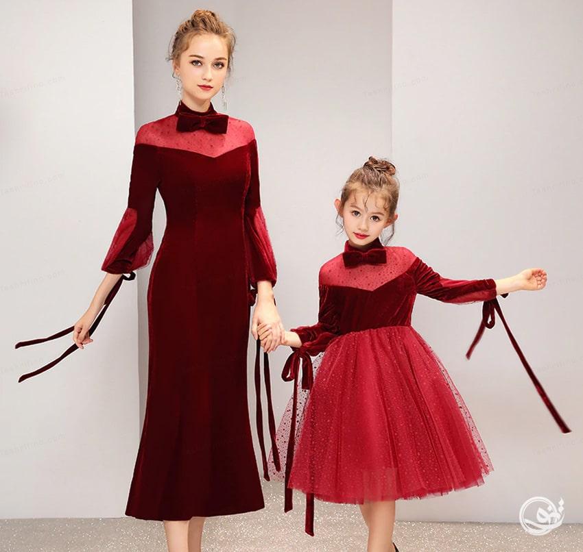 پوشیده ترین ست مادر دختری مجلسی