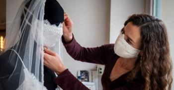 مدل ماسک پارچه ای برای عروس - ماسک عروس [لاکچری]