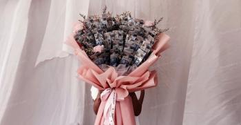 آموزش تزیین دسته گل با پول : گل رز، جعبه گل | دسته گل خواستگاری