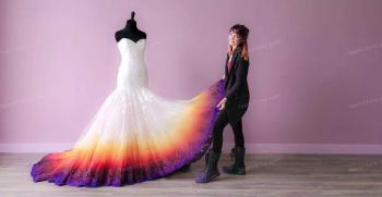 انواع مدل لباس عروس رنگی جدید 2020 - 99