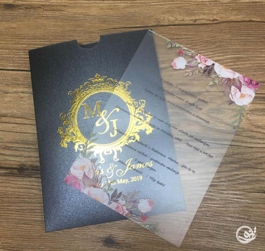 کارت عروسی لوکس طلقی