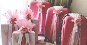 آموزش تزیین چمدان عروس و داماد جدید 2020