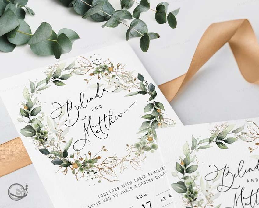 کارت عروسی لوکس شیک