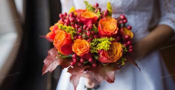 دسته گل پاییزی عروس - مدل های دسته گل عروس جدید 2020