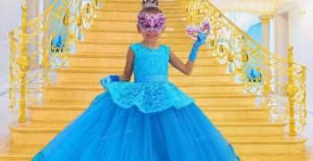 مدل لباس پرنسسی دخترانه بلند شیک و لاکچری