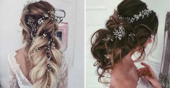 زیباترین مدل موی بلند برای عروسی دخترانه جدید 2020