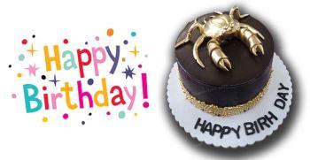 50 عکس کیک تولد تیر ماهی مردانه و دخترانه با متن تبریک تولد