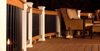 نرده چوب پلاست برای بالکن + قیمت نرده چوب پلاست
