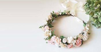 60 عکس تاج گل عروس طبیعی و برای عقد