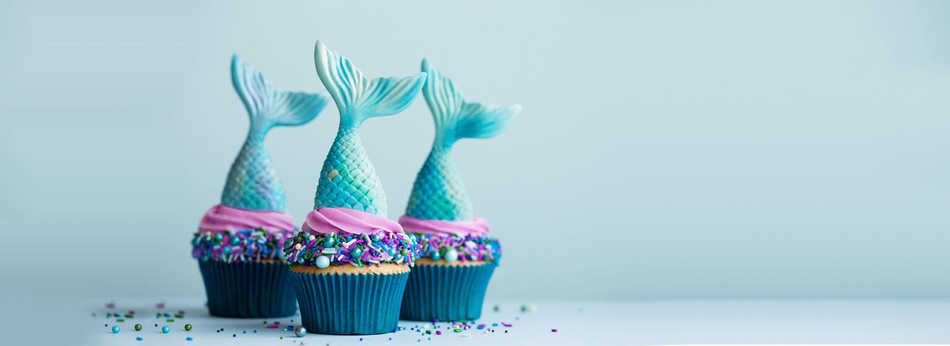 تم تولد پری دریایی دخترانه [لباس + کیک + گیفت]