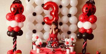 تم تولد دختر کفشدوزکی جدید و ساده + کیک دختر کفشدوزکی